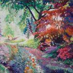 Pathway at Ramster Gardens, Chiddingfold – Farnham Art Society Artist Nicholas John Walsh