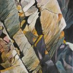 Pembrokeshire Wales Cliff – Rose Seber – Rock Climbing and Mountain Art and Stone Lithography – Surrey Art Gallery