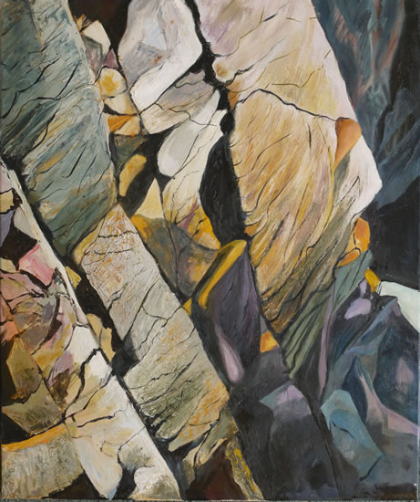Pembrokeshire Wales Cliff - Rose Seber - Rock Climbing and Mountain Art and Stone Lithography - Surrey Art Gallery
