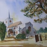 Pirbright Church- Painting – Surrey Art Gallery