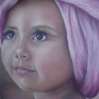 Portrait Painting of Girl – Rita – Cranleigh Surrey Artist Maureen Domoney