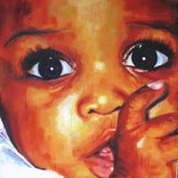 Portrait – African Child – Big Eyes – Joanna McConnell – Portrait Artist – Surrey Art Gallery