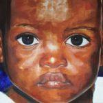 Portrait – African Child – New – Joanna McConnell – Portrait Artist – Surrey Art Gallery