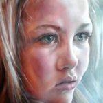 Portrait Art Commisions – Girl – 2nd Portrait of Frida – Surrey Art Gallery – Maureen Domoney – Cranleigh Artist