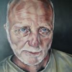 Portrait Art Commisions – Painting of Man – Mike- Surrey Art Gallery – Maureen Domoney – Cranleigh Artist