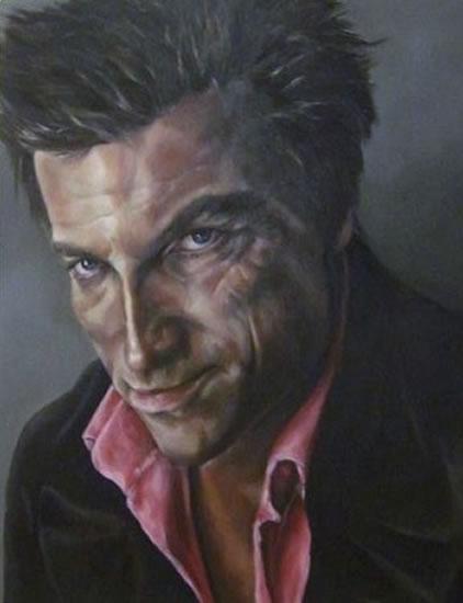Portrait Art Commissions - Painting of Man - Duncan - Cranleigh Surrey Artist Maureen Domoney
