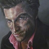 Portrait Art Commissions – Painting of Man – Duncan – Cranleigh Surrey Artist Maureen Domoney