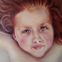 Portrait Art – Painting of Girl – Frida – Cranleigh Surrey Artist Maureen Domoney
