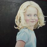 Portrait – Bethan – Kerry Regan – Artist Painting in Acrylic and Other Media – Surrey Art Gallery