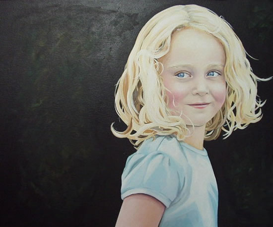 Portrait - Bethan - Kerry Regan - Portrait Artist Painting in Acrylic and Other Media - Surrey Art Gallery