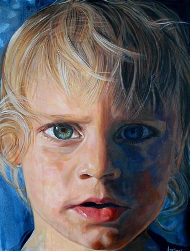 Portrait - Child - Boy - Jude - Joanna McConnell - Portrait Artist - Surrey Art Gallery