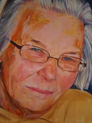 Portrait Commission - Joyce - Joanna McConnell - Portrait Artist - Surrey Art Gallery