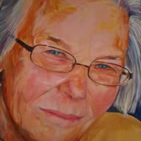 Portrait Commission – Joyce – Joanna McConnell – Portrait Artist – Surrey Art Gallery