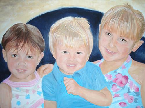 Portrait - Jamie's Children - Joanna McConnell - Portrait Artist - Surrey Art Gallery