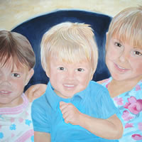 Portrait – Jamie's Children – Joanna McConnell – Portrait Artist – Surrey Art Gallery