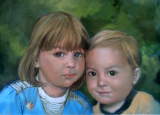 Portrait Painting Of Children - Colette Simeons - Portrait Artist - Surrey Art Gallery