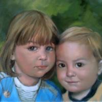 Portrait Painting Of Children – Colette Simeons – Portrait Artist – Surrey Art Gallery