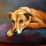 Portrait Painting Of Dog – Colette Simeons – Portrait Artist – Surrey Art Gallery