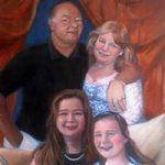 Portrait Painting Of Family Group – Colette Simeons – Portrait Artist – Surrey Art Gallery