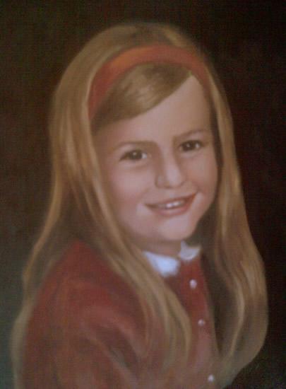 Portrait Painting of Girl - Colette Simeons - Portrait Artist - Surrey Art Gallery