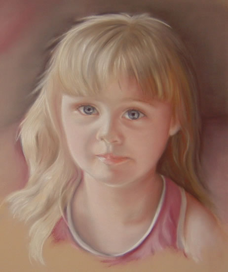 Portrait Painting of Girl - Megan - Surrey Art Gallery - Maureen Domoney - Cranleigh Artist
