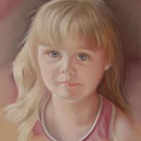 Portrait Painting of Girl – Megan – Surrey Art Gallery – Maureen Domoney – Cranleigh Artist