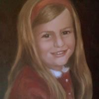Portrait Painting of Girl – Colette Simeons – Portrait Artist – Surrey Art Gallery