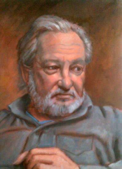 Portrait Painting of Man - Colette Simeons - Portrait Artist - Surrey Art Gallery