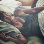 Portrait Painting of Woman – Stephanie – Surrey Art Gallery – Maureen Domoney – Cranleigh Artist