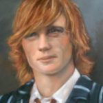 Portrait Painting of Young Man – Colette Simeons – Portrait Artist – Surrey Art Gallery