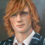 Portrait Painting of Young Man – Colette Simeons – Portrait Artist – Surrey Art Gallery