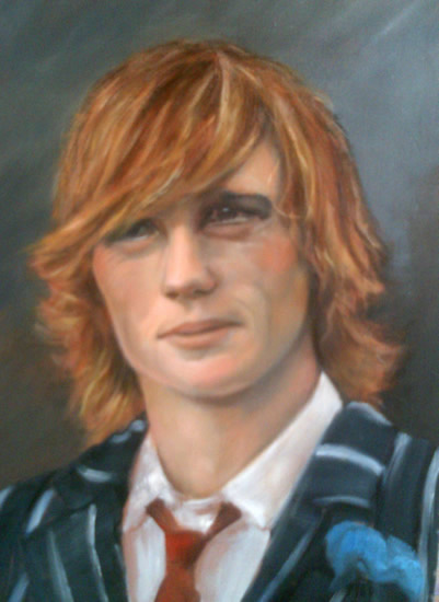 Portrait Painting of Young Man - Colette Simeons - Portrait Artist - Surrey Art Gallery