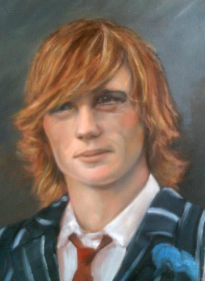 Portrait Painting of Young Man - Colette Simeons - Portrait Artist - Surrey Art Gallery