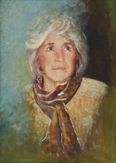 Portrait of Woman - Farnham Surrey Artist  Michael Walsh
