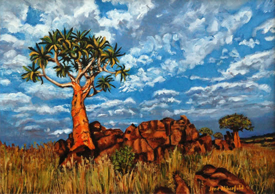 Quiver Tree, Namaqualand - South Africa Gallery - Jane Atherfold - Molesey Art Society