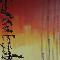 Rainbow Series – Abstract Art Expressionism – Acrylic and Varnish On Canvas – Charlotte Amison – Surrey Gallery – Fine Artist