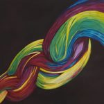 Rainbows Twist – Contemporary Surrey Artist – Penelope Cake – Gallery