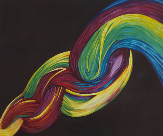 Rainbows Twist - Contemporary Surrey Artist - Penelope Cake - Gallery