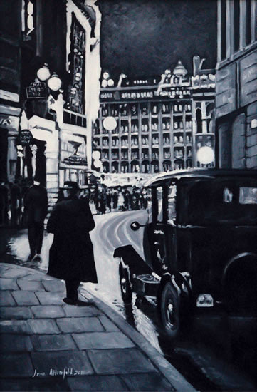 Regent Street - Black and White - London Gallery - Jane Atherfold - Sunningdale Art Society