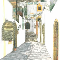 Rhodes – Lindos – Surrey Artist – Linda Brand UKCPS – Gallery – Pencil Artist