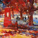 Richmond Green – John Walsom – Contemporary and Architectural Artist – Buildings and Interiors in Oils and Watercolours – Surrey Art Gallery