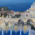 Rome – Bridge of Angels – Daniele Mandelli – Painter of Oils – Merton Art Society – Surrey Art Gallery