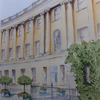 Royal Crescent Hotel, Bath – Somerset Art Gallery – David Harmer – Woking Surrey Artist