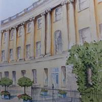 Royal Crescent Hotel, Bath – Somerset Art Gallery – David Harmer – Woking Surrey Artist