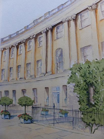 Royal Crescent Hotel, Bath - Somerset Art Gallery - David Harmer - Surrey Artist