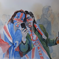 Royal Wedding, Hyde Park – London Art Gallery – Woking Surrey Artist David Harmer