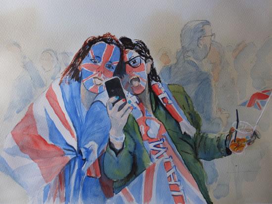 Royal Wedding, Hyde Park - London Art Gallery - Woking Surrey Artist David Harmer