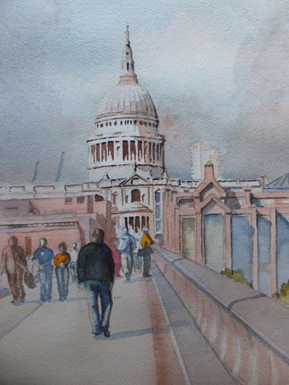 Saint Paul's Cathedral London - London Art Gallery - David Harmer - Surrey Artist