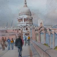 Saint Paul's Cathedral London – London Art Gallery – David Harmer – Surrey Artist