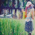 Scarecrow at Hartley Wintney – Hampshire Artist Nicholas Walsh – Farnham Art Society